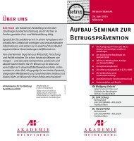 Aufbau-Seminar zur Betrugsprävention - AH Akademie für ...