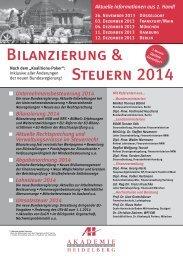 Bilanzierung & Steuern 2014 - AH Akademie für Fortbildung ...