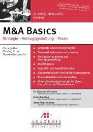 M&A Basics - AH Akademie für Fortbildung Heidelberg GmbH
