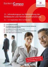 11. Jahreskongress zur Bekämpfung der Geldwäsche und ...