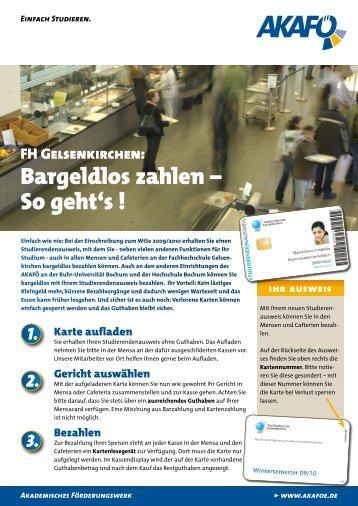 Bargeldlos zahlen – So geht's ! - AKAFÖ Bochum