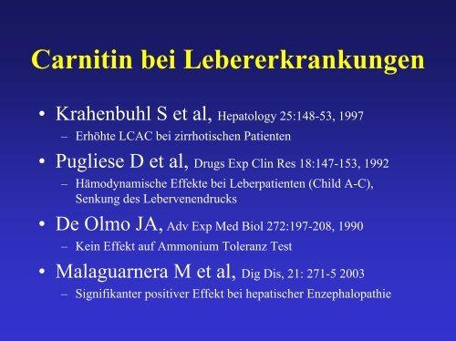 Carnitin bei Nieren-, Leber- versagen – und sonst ? - AKE