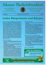 Ausgabe 573 vom 22.03.2013 - Stadt Aken (Elbe)