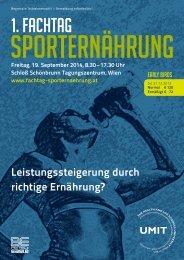 Fachtag Sporternährung - UMIT