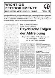 Psychische Folgen der Abtreibung - AKTION LEBEN e.V