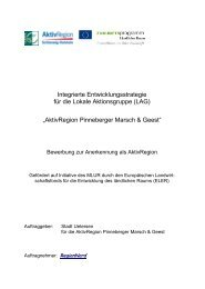 Integrierte Entwicklungsstrategie AktivRegion Pinneberger Marsch ...