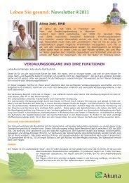 Leben Sie gesund. Newsletter 9/2011