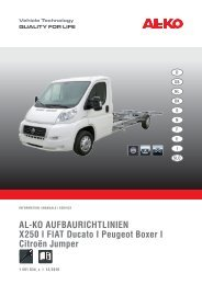 AL-KO AUFBAURICHTLINIEN X250 I FIAT ... - AL-KO Kober AG