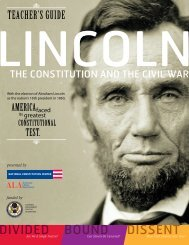 Teachers' guide for Lincoln: The Constitution and the Civil War