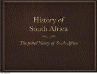 The potted history of South-Africa