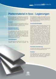 Plattenmaterial in 5xxx - Legierungen - Alcoa