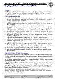 Employee Relations Consultant (WAO) - Alcoa