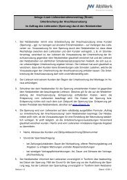 Lieferantenrahmenvertrag Anlage 4