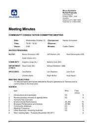 Agenda - Alcoa ARP Yennora Community Consultation Committee