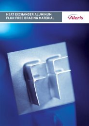 heat exchanger aluminum flux-free brazing material - Aleris