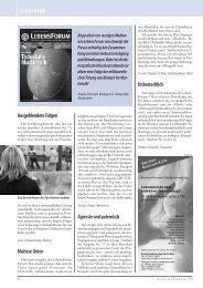 Leserforum - Aktion Lebensrecht für Alle eV