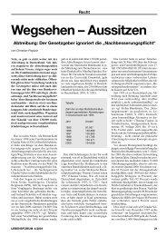 Wegsehen – Aussitzen - Aktion Lebensrecht für Alle eV