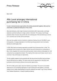 Alfa Laval arranges international purchasing fair in China