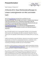 Presseinformation Chillventa 2012: Neue ... - Alfa Laval