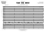 Tage wie diese (Cmaj-A4 Demo Score)