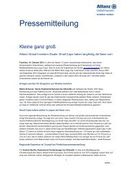 Pressemitteilung - Allianz Global Investors