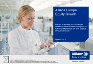 Allianz Europe Equity Growth- A - EUR - Allianz Global Investors