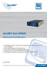 ALLNET ALL-VPN20 VPN/Firewall Dual-WAN Router