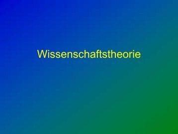 Wissenschaftstheorie - Allgemeine Psychologie
