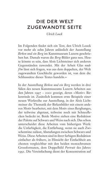die der welt zugewandte seite - Alois Lichtsteiner