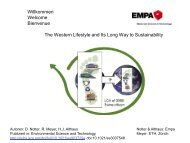 The Western Lifestyle and Its Long Way to Sustainability - Amt für ...