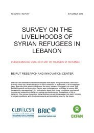 SURVEY ON THE LIVELIHOODS OF SYRIAN REFUGEES ... - ALNAP