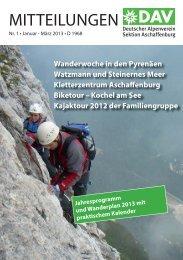 Mitteilungen 01-2013 - Alpenverein-Aschaffenburg.de