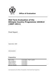 Ethiopia Country Programme: Mid-term Evaluation (2007 ... - alnap
