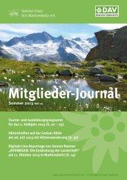 Mitglieder-Journal Sommer 2012 - Deutscher Alpenverein Sektion ...