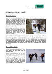 April_Skitouren Gran Paradiso - DAV Sektion Schwaben