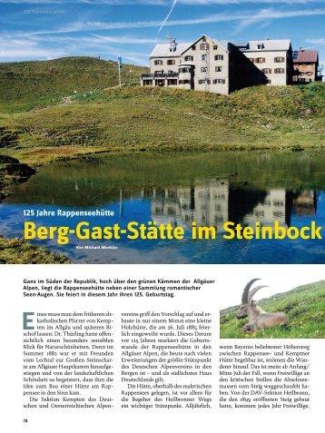 Berg-Gast-Stätte im Steinbock land - Deutscher Alpenverein