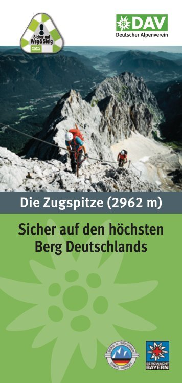 Flyer Sicher auf die Zugspitze.pdf - Deutscher Alpenverein