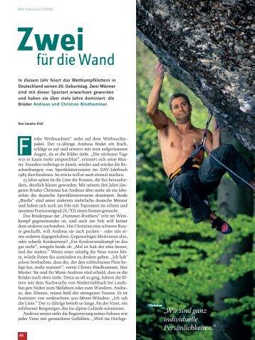 für die Wand - Deutscher Alpenverein
