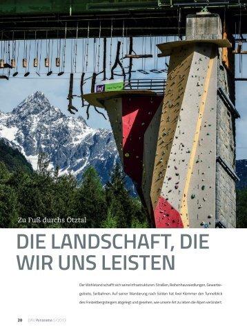 Die LanDschaft, Die wir uns Leisten - Deutscher Alpenverein