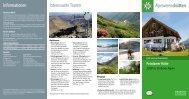 Informationen Interessante Touren - Deutscher Alpenverein