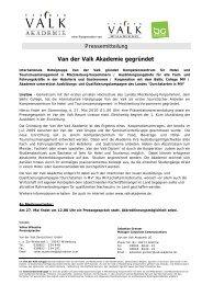 Van der Valk Akademie gegründet