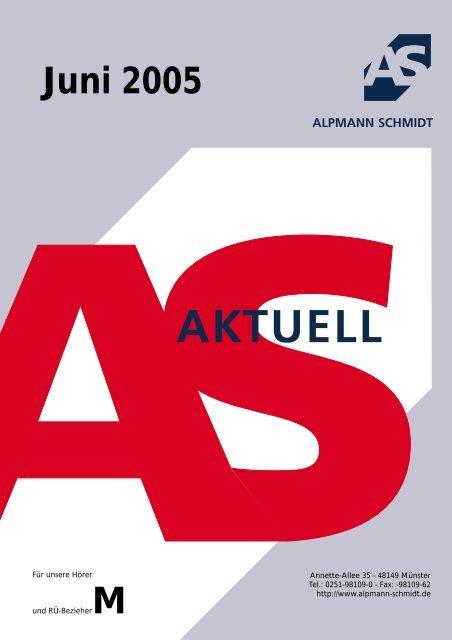 Ausgabe downloaden - Alpmann Schmidt