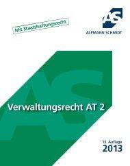 VERWALTUNGSRECHT AT 2 mit ... - Alpmann Schmidt