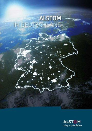 Broschüre: Alstom in Deutschland