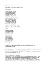 (15) liesl ujvary: text des monats Sabine Scho, 2 ... - Alte Schmiede