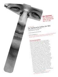 Autorenprojekte Der Hammer Die Zeitung der Alten ... - Alte Schmiede
