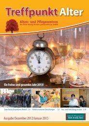 Ausgabe Dezember 2012/Januar 2013 - Alten- und Pflegezentren ...