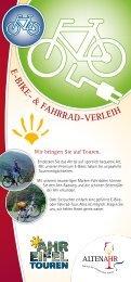 E-BIKE- & Fahrrad-VErLEIh - Weinort Altenahr e.V.