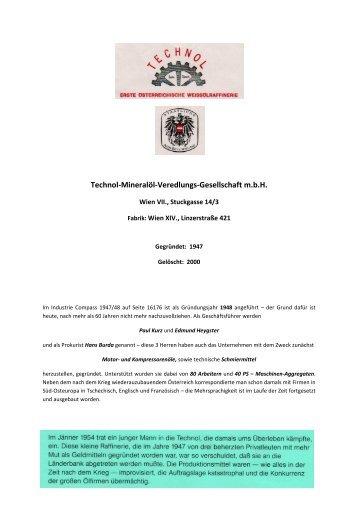 Technol-Mineralöl-Veredlungs-Gesellschaft m.b.H. - Althofen