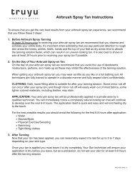 Airbrush Spray Tan Instructions
